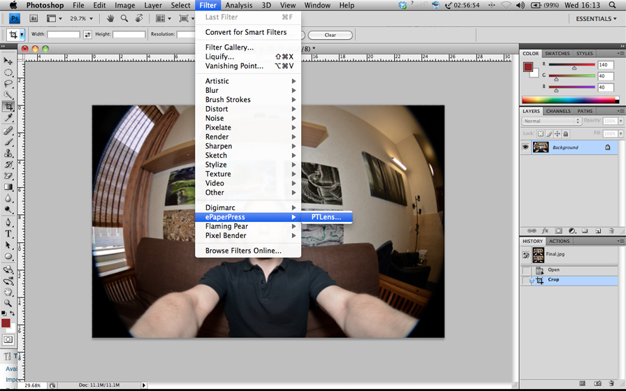 Correcting Fisheye images with PTLens Photoshop plug-in  | Shutter